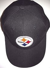 PITTSBURGH STEELERS UNISEX ADULT ADJUSTABLE BLACK CAP HAT WITH CIRCLE LOGO