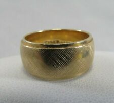 14K Solid Gold Designer Wedding Band  by Marden Size 5.5 x 8mm  SAVE 1200.  r634