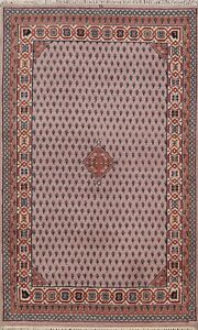 Geometric Paisley Botemir Oriental Area Rug Hand-Knotted Traditional Carpet 4x6