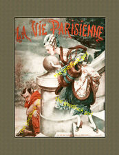 Pouting Centaur vintage French Faun Pan Satyr La Vie Parisienne 8x10 Art print