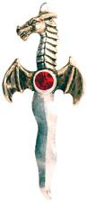 Forbidden Colección Dragon athame Colgante Collar Regalo Daga Gótico ocultas Reino Unido