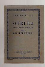 giuseppe verdi - otello - libretto 1926 edizioni ricordi
