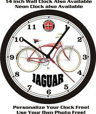 Schwinn Jaguar Bicycle Wall Clock-Free Usa Ship!