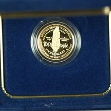 1987 U.S. Mint Constitution $5 Gold Proof Commemorative Coin With Box & COA OGP