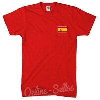 Spain Nation Tshirt Brazil World Cup Football Espana Commonwealth T Shirt Top