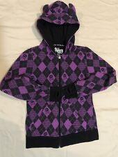 *Rare* GIRLS AVRIL LAVIGNE ABBY DAWN Devil Horns HOODIE Size 8-10 Purple Black