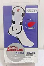 New SWEDE-O Arch Lok Ankle Brace Right White Hinged Support Size XS Womens 4 5 6