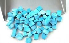 50 Pieces Natural Blue Turquoise Rough Loose Gemstone Size 6-8 MM Making Jewelry
