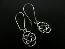 Earrings On Kidney Ear Wires. New. A Pair Of Tibetan Silver Celtic Knot