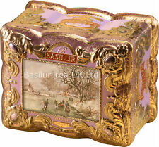 Basilur Tea -Treasure Chest -CHAROITE - Black Flavoured Leaf Tea 100g Tin Caddy