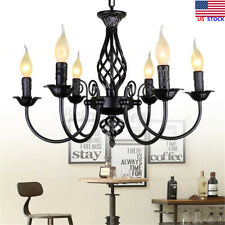 US Chandelier Hanging Candle Ceiling Lights Lamp Pendant Fixtures Home