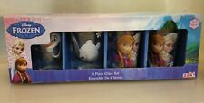 Zak! Designs Juice Glasses with Frozen Graphics Set of 4, Elsa, Anna and Olaf,