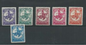 Postage Stamps Luxembourg 1934  252/257   - Au profit d'oeuvres sociales MH *