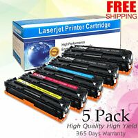 5pk Toner Cartridges for HP CF210A 131A LaserJet Pro 200 Color MFP M276nw M251nw