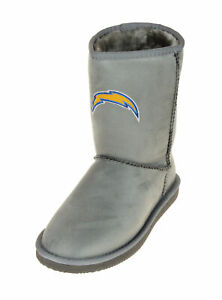 Cuce Shoes San Diego Chargers NFL Football Women's The Devotee Boot - Gray
