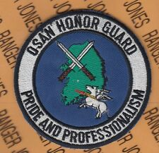 "USAF Air Force OSAN HONOR GUARD Korea AFB 3.5"" pocket patch"
