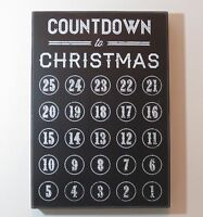 Primitives By Kathy Countdown To Christmas Black Chalkboard Decoration Wood