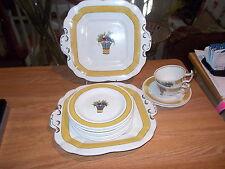 15 Pieces Wedgwood Yellow Directoire Fruit Basket-Yellow Band Rim, Fruit Basket