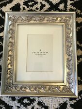 Pottery Barn vine matted frame Sliver beautiful wooden 5 X 7