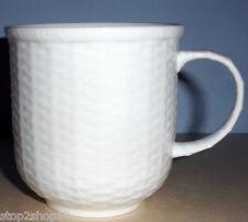 Wedgwood NANTUCKET Basket Beaker Mug White Embossed New