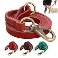 Durable Soft Leather Pet Dog Lead Leash for Walking Training Small Medium Large