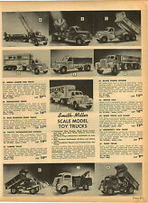 1955 PAPER AD Smith Miller Toy Trucks Aerial Ladder Fire Pacific Intermountain