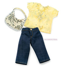 "Starlight Doll Blouse, Jeans, Bag fits 18"" American Girl or Our Generation, NEW!"