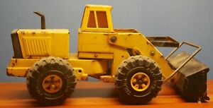 Vintage Yellow Mighty Tonka Loader Steel Toy Truck For Restoration
