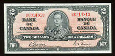 1937 Bank of Canada $2 - S/N: U/B6314813 - Nice VF+ Condition