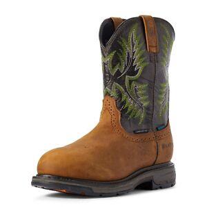 Ariat WORKHOG H20 Mens COMPOSITE TOE 10031561 Tumble Bark/Dark Forest Boots