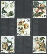 Timbres Chats Chiens 3927/31 o lot 8079