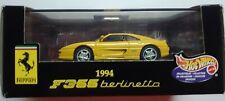 Hot Wheels Yellow Ferrari F355 berlinetta 1:43