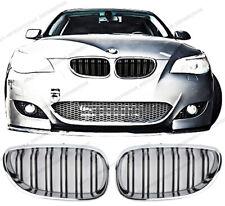 BMW 5 series E60 E61,dual slat grille,Black+chrome rim,M5 M6 style,saloon estate