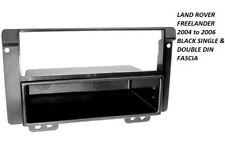 LAND ROVER FREELANDER 2004 to 2006 BLACK SINGLE & DOUBLE DIN FASCIA ADAPTER