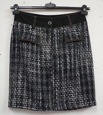 Karierte knielange Damenröcke im A-Linien-Stil aus Baumwollmischung