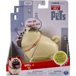 The Secret Life of Pets Mel Walking Talking Pets Figure Hustles & Jokes NEW!