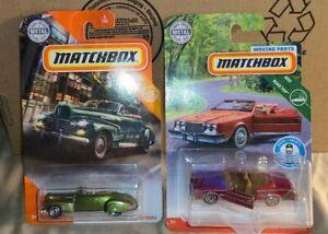 MATCHBOX MBX~ City 41 Cadi Series 62 Conv. Coupe & Road Trip 83 Buick Riviera Co
