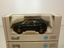 SCHABAK 1400 VW VOLKSWAGEN GOLF - GREEN METALLIC 1:43 - GOOD IN DEALER BOX