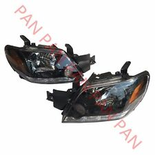 Pair Front Head Lights Headlights Lamps For Mitsubishi Outlander 2003-2006
