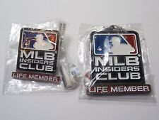 MLB insiders club Life Member pin key chain set still in plastic never opened