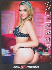 MIA MALKOVA Rare 2016 8.5x11 Digital Playground photo! AVN