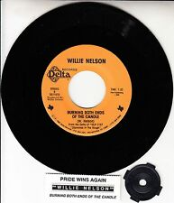 "WILLIE NELSON  Burning Both Ends Of The Candle 7"" 45 record + juke box strip NEW"