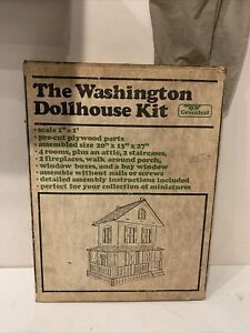 VINTAGE GREENLEAF THE WASHINGTON DOLLHOUSE KIT , NEW IN BOX