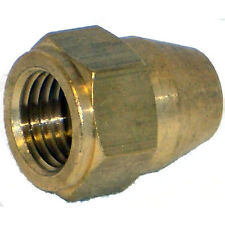 """M12 x 1mm Brass Brake Tube Nut Female For 1/4"""" Tube"""