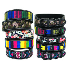 1.5/2'' Wide Reflective Dog Collar Padded Adjustable Medium Large Dog Rottweiler