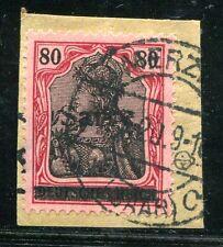 SAAR 1920 16III gestempelt TADELLOS auf BRIESFTÜCK gepr BPP 380€(S0045