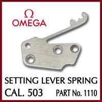 Ω Ω Setting Lever Spring, Swiss Made, Part No. 1110 For OMEGA Cal. 503 Ω Ω