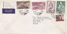 1958 Ireland #129,#152,#155,#C1,#C3 on cover to US  *d