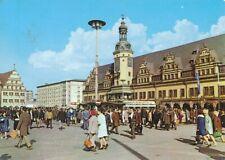 alte AK Leipzig - Rathaus und Waage am Markt 1973 gelaufen Ansichtskarte C841i