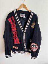 Vintage Get Used Jeans Cardigan Deadstock size Xl Black Patches Hong Kong